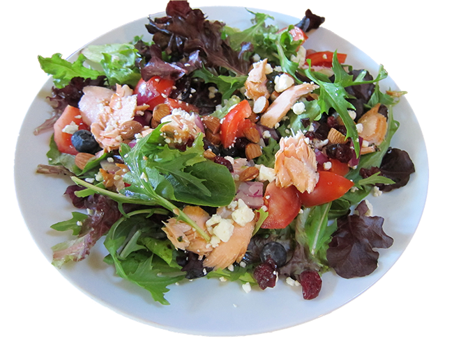 Salmon and Blueberries Salad