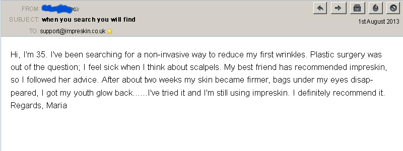 customer review 3 Imperskin