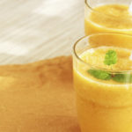 lemon orange and lettuce smoothie