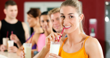 Women drinking Protein